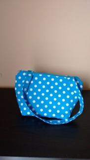 Blue Polka Dots Hand Bag